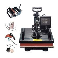 "8 in 1 Multi-function Heat Press Machine 15"" × 15"" T-Shirts Cap Mug p1"