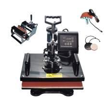 "5 in 1 Multi-function Heat Press Machine 12"" × 15"" T-Shirts Cap Mug p1"