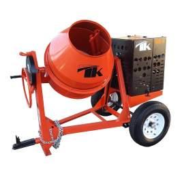 TK Equipment 9 Cu. Ft. Steel Drum Concrete Mixer w/ GX240 Honda Engine CM9-GH8