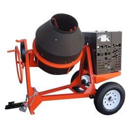 TK Equipment 9 Cu. Ft. Poly Drum Concrete Mixer w/ GX240 Honda Engine CM9P-GH8