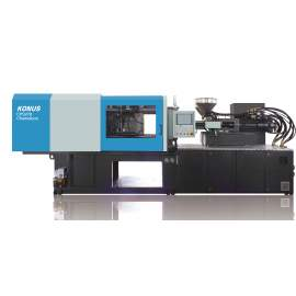CPS410 Servo Motor Hybrid Dual Color Injection Molding Machine With Dryer Hopper and Auto Loader